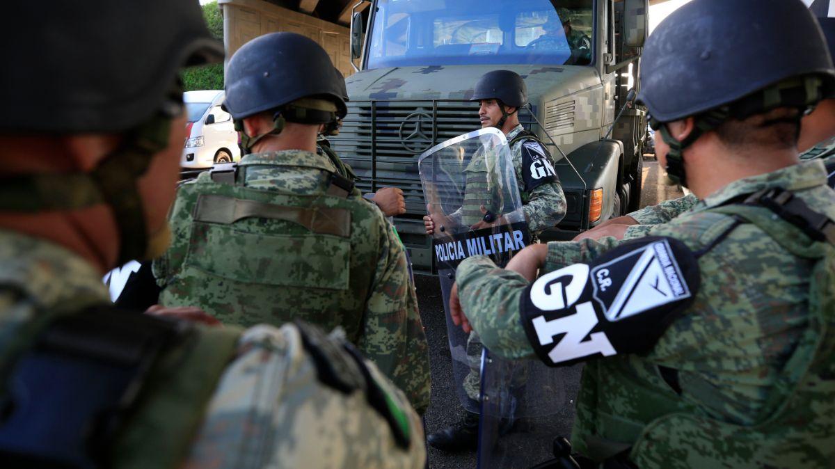 Elementos de la Guardia Nacional.