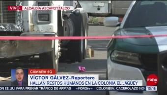 FOTO: Hallan restos humanos Azcapotzalco CDMX