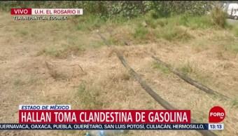 FOTO: Hallan toma clandestina gasolina Tlalnepantla