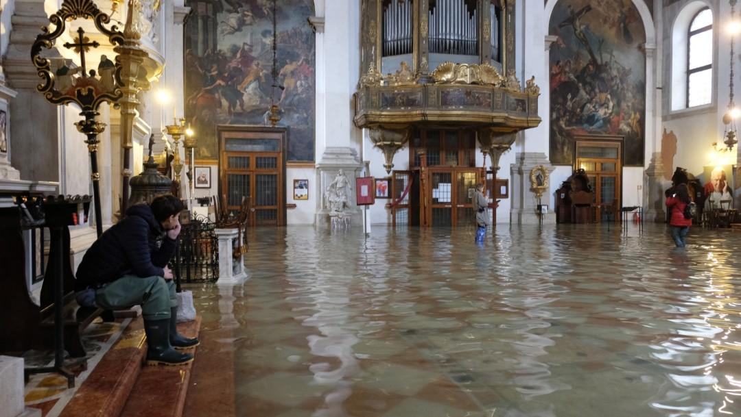 Foto: Histórica Basílica de San Marcos en Venecia, dañada por inundación