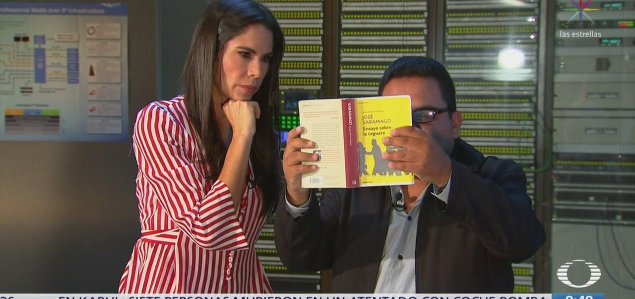 Hombre ciego recibe lentes inteligentes en estudio de Al Aire