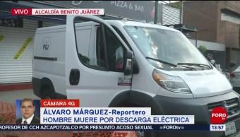 FOTO: Hombre muere por descarga eléctrica alcaldía Benito Juárez