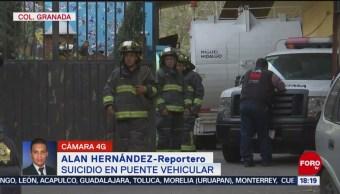 FOTO: Hombre se suicida puente vehicular CDMX,