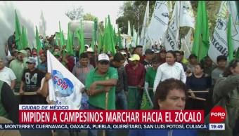 Foto: Campesinos Marcha Zócalo Cámara Diputados Hoy 20 Noviembre 2019