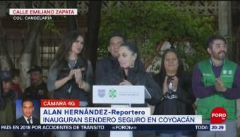 FOTO: Inauguran Sendero Seguro en Coyoacán, CDMX, 14 noviembre 2019