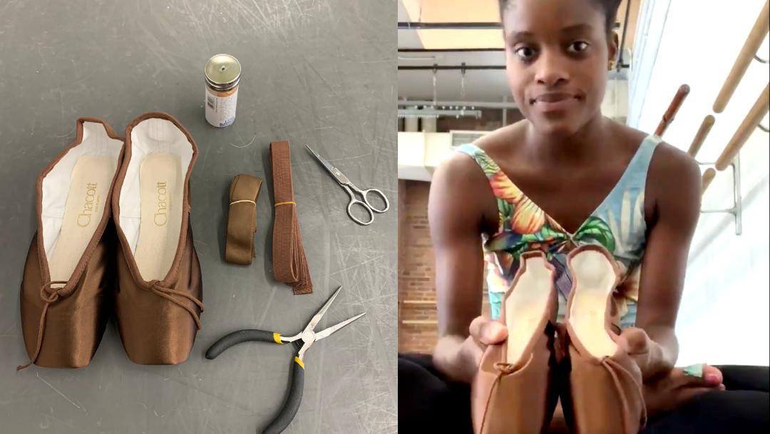 Foto: Bailarina brasileña recibe las primeras zapatillas con su tono de piel. 5 Noviembre 2019