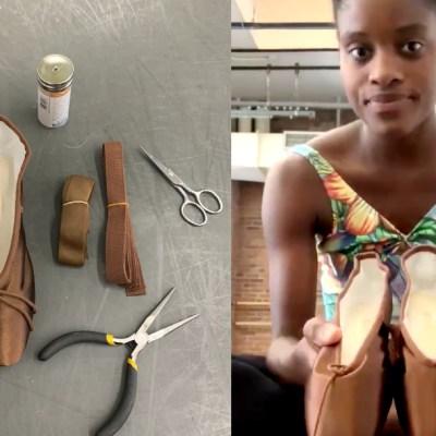 Bailarina brasileña recibe las primeras zapatillas con su tono de piel