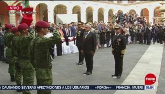 Inicia ceremonia por el Aniversario de la Revolución Mexicana (Parte 1)