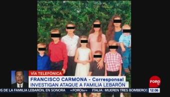 Investigan ataque a familia LeBarón