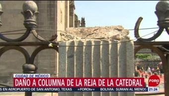 FOTO:Investigan daños a reja de la Catedral Metropolitana de la CDMX, 17 noviembre 2019
