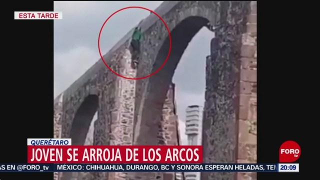 Foto: Video Joven Arroja Arcos Querétaro Hoy 22 Noviembre 2019