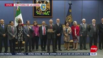 FOTO: Junta Gobierno UNAM reelige Enrique Graue como rector
