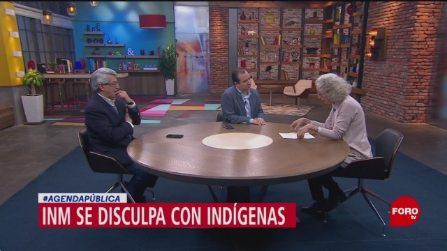 FOTO: La disculpa de INM con indígenas Tzetzales, 10 noviembre 2019