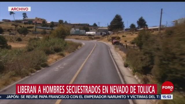 Foto: Liberan actor turista francés secuestrados Nevado Toluca