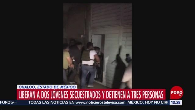 FOTO: Video Liberan Dos Secuestrados Chalco Estado México