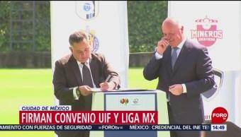 FOTO: Liga MX UIF firman convenio para transparentar recursos