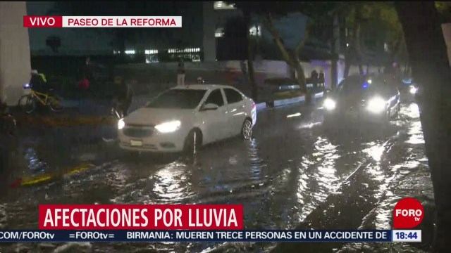 FOTO: Lluvia provoca encharcamientos Reforma
