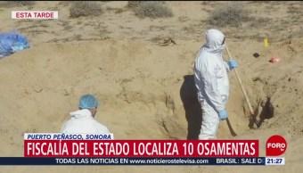 FOTO: Localizan 10 osamentas en fosas clandestinas en Sonora, 9 noviembre 2019