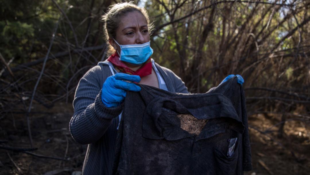 Foto: La señora Angélica Ramírez agradeció el apoyo de las diferentes brigadas y colectivos que están en busca de personas desaparecidas, 24 de noviembre de 2019 (Omar Martínez /Cuartoscuro.Com)