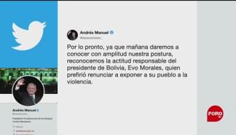 FOTO: López Obrador y Marcelo Ebrard se pronuncian tras renuncian de Evo Morales, 10 noviembre 2019