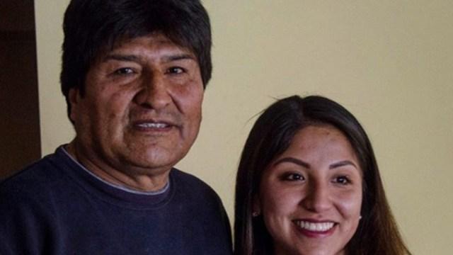 Imagen: Evaliz, de 24 años, es hija de Evo Morales y Francisca Alvarado, una antigua dirigente de un movimiento indígena, mientras que Álvaro es un año menor y su madre es Marisol Paredes, 23 de noviembre de 2019 (Instagram)