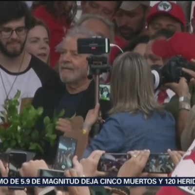 Lula sale de la cárcel en Brasil