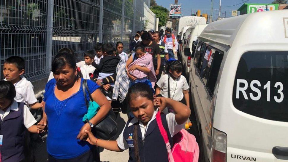 Macrosimulacro de evacuación por contingencia del volcán Popocatépetl