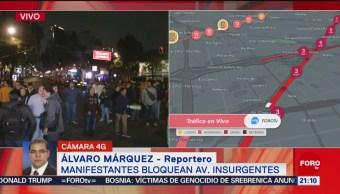 FOTO: Manifestantes bloquean Avenida InsurgentesUn grupo de manifestantes bloquean Avenida Insurgentes en protesta por fraude electoral, 15 noviembre 2019