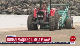 FOTO: Maquinaria especial para limpieza playas Veracruz