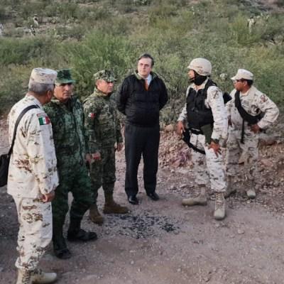 Ebrard recorre zona de ataque contra familia LeBarón; no habrá impunidad, asegura