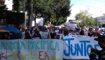Foto: Infiltrados irrumpen en protesta de estudiantes frente a Rectoría UNAM