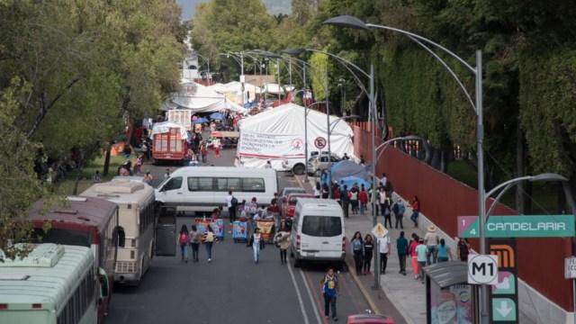 Imagen: Durante el día se espera la concentración de Vecinos y Funcionarios del Municipio de Ocuilan, Estado de México, en el Senado de la República, 20 de noviembre de 2019 (Mario Jasso /Cuartoscuro.com)