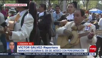 FOTO: Mariachis realizan peregrinación hacia Basílica Guadalupe
