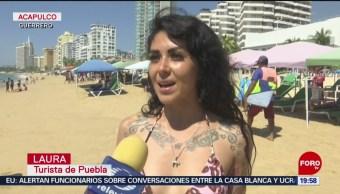 FOTO: Miles de turistas visitan las playas de Acapulco, 10 noviembre 2019
