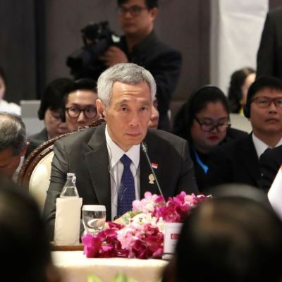 Marcelo Ebrard da bienvenida a primer ministro de Singapur