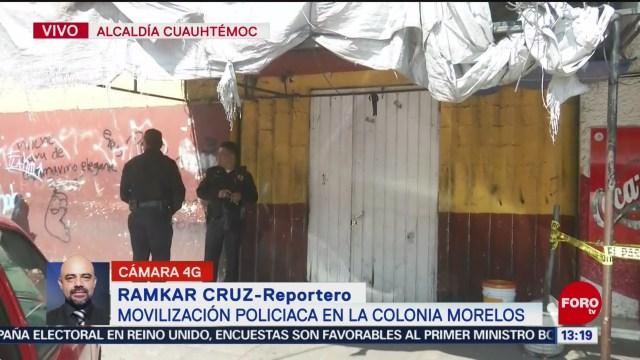 FOTO: Movilización policiaca colonia Morelos,