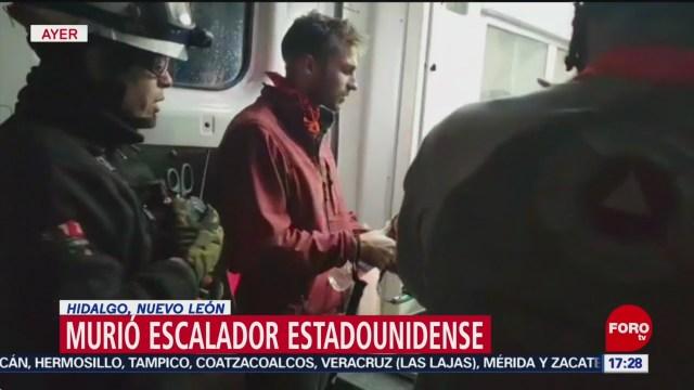 FOTO: Muere alpinista estadounidense en Hidalgo, Nuevo León, 28 noviembre 2019