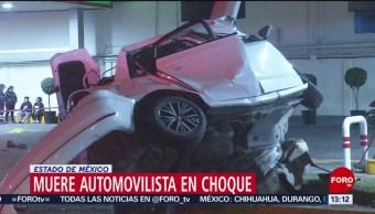 FOTO: Muere automovilista choque Ecatepec Estado México