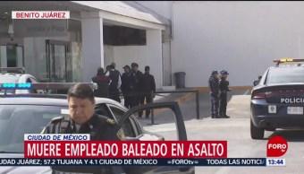 FOTO: Muere empleado de plaza comercial por asalto en estacionamiento, 18 noviembre 2019