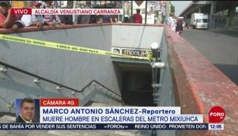 Foto: Muere Hombre Escaleras Metro Mixihuca CDMX