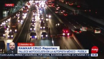 FOTO: Muere motociclista autopista México-Puebla