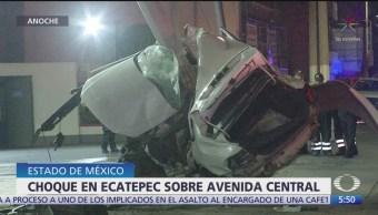 Muere persona en accidente automovilístico en Ecatepec, Edomex