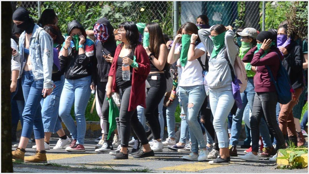 Imagen: Participantes de marcha del lunes serán vigiladas por policías mujeres, 24 de noviembre de 2019 (ARMANDO MONROY /CUARTOSCURO.COM)