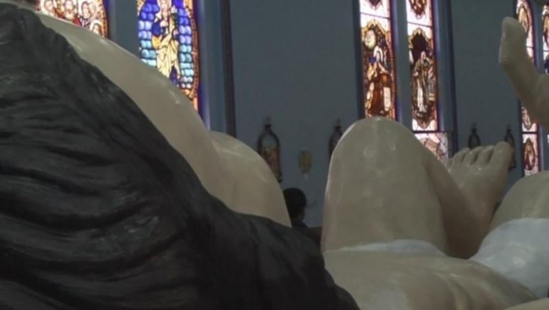 Artesanos crean Niño Dios de 6.58 metros de largo en Zacatecas