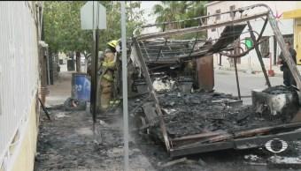 Foto: No Cesa Quema Camiones Ciudad Juárez 8 Noviembre 2019