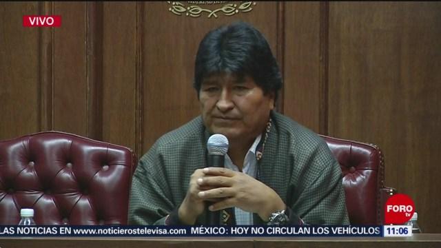 No hubo fraude en elecciones bolivianas, dice Evo Morales