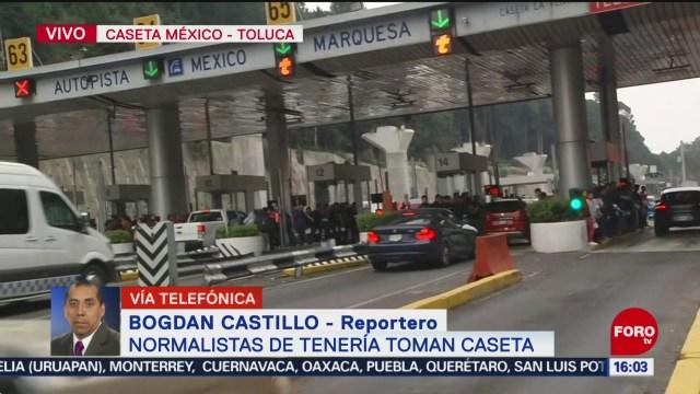 FOTO: Normalistas toman caseta México-Toluca, 15 noviembre 2019