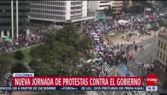 FOTO: Nueva jornada protestas contra gobierno Colombia