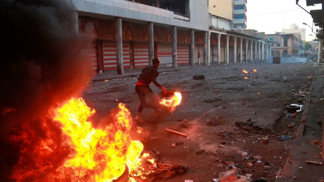Foto: Nueva jornada de protestas en Irak deja tres muertos