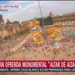 FOTO: Ofrenda monumental Zócalo CDMX Altar de Altares